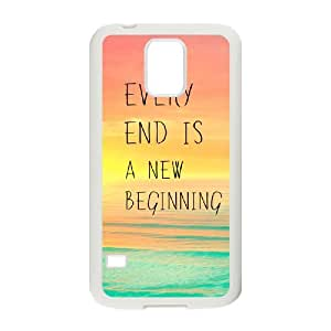 every end is a new beginning DIY Cover Case for SamSung Galaxy S5 I9600,customized every end is a new beginning Phone Case