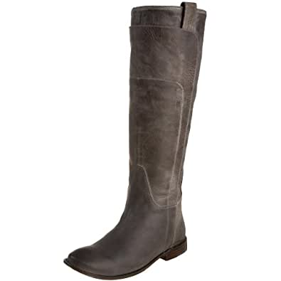 FRYE Women's Paige Tall Riding Boot, Grey Burnished Leather, 5.5 M US