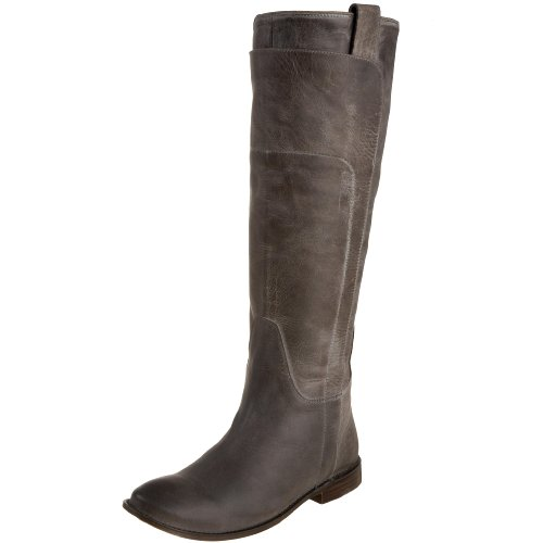 FRYE Women's Paige Tall Riding Boot, Grey Burnished Leather, 8 M US (Grey Womens Riding Boots)