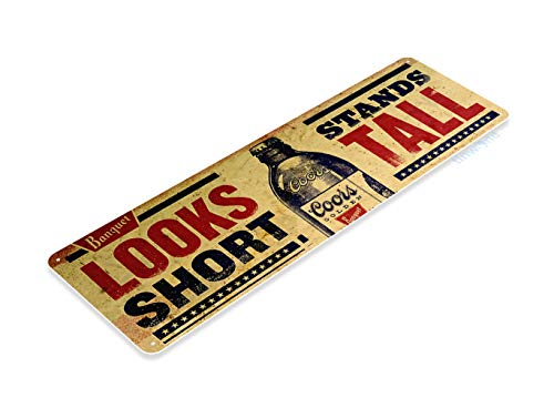 Tinworld Tin Sign Coors Short Tall Rustic Retro Beer Bar Metal Sign Decor Garage Shop Pub B660