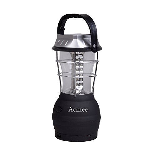 Acmee 5 Mode Hand Crank Dynamo 36 LED Rechargeable Camping Lantern Emergency Light, Ultra Bright LED Lantern - Car Charge - Camping gear for Hiking Emergencies Hurricane Outages,Solar Lantern