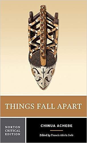 Amazon Com Things Fall Apart Norton Critical Editions 9780393932195 Achebe Chinua Irele Francis Abiola Books