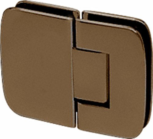 CRL Roman 180 Series Oil Rub Bronze 180º Glass-To-Glass Standard Hinge