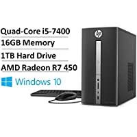 2017 Newest HP Flagship Pavilion 570 High Performance Desktop PC- Intel Quad-Core i5-7400 3.0GHz, 16GB RAM, 1TB HDD 7200 RPM, 2GB AMD R7 450, DVD Burner, WLAN, BT4.2, Win 10 (Certified Refurbished)