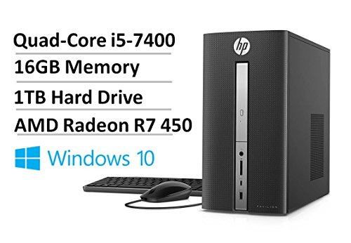 Click to buy 2017 Newest HP Flagship Pavilion 570 High Performance Desktop PC- Intel Quad-Core i5-7400 3.0GHz, 16GB RAM, 1TB HDD 7200 RPM, 2GB AMD R7 450, DVD Burner, WLAN, BT4.2, Win 10 (Certified Refurbished) - From only $499