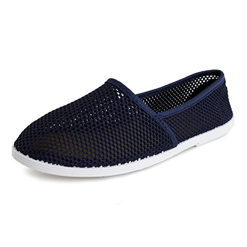 Mesh Womens Adults Navy Canvas Footwear Kali on Shoes Slip 5XvTw8q