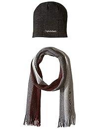 Calvin Klein - Juego de gorra y bufanda para hombre