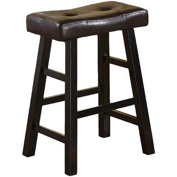 Amazon Com Winsome Mona 24 Inch Cushion Saddle Seat Stool