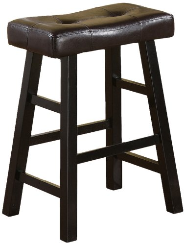 Flat Seat Counter Stool - Bobkona Mauro Country Series Counter Stool - 24