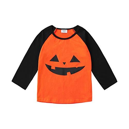 Baseball Girl Halloween (CREATOR Halloween Toddler Baby Girls Boys Long Sleeve Shirts Raglan Shirt Baseball Tee Cotton T-Shirt (Halloween, 3)