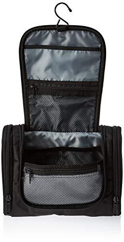 418EGX32H0L - AmazonBasics Hanging Travel Toiletry Kit Bag - Black