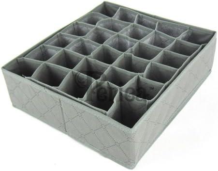 Grey Drawer Organiser Boxes Sock Belts