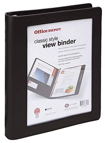 Office Depot Brand Classic-Style View Binder, 1