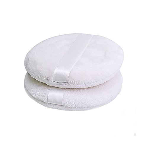 Topwon 4 Inch Powder Puff,Washable Large Body Puff,Soft & Furry - 3Pcs