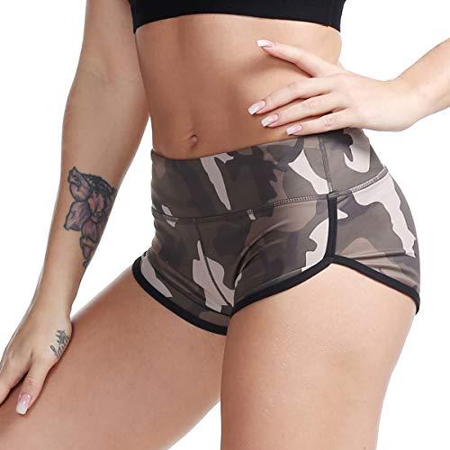 Shorts Camouflage Spandex (Camouflage Gym Shorts Womens Yoga Hot Shorts Trainning Workout Shorts XL)