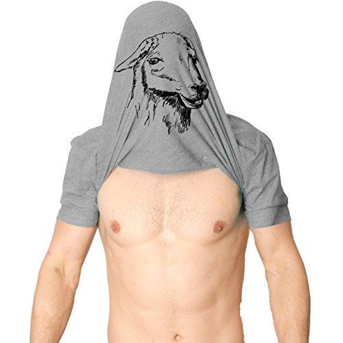 Ask Me About My Llama T Shirt Funny Animal Flip Shirt Cool Llamas Tee (Grey) XL