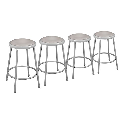 Learniture Heavy Duty Padded Metal Lab Stool, 24