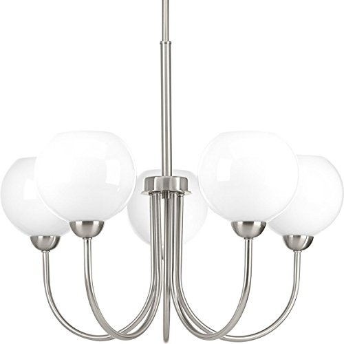 Progress Lighting P400060-009 Carisa Five-Light Chandelier, Brushed Nickel