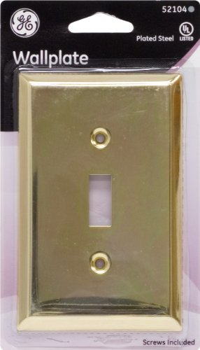 GE Brass Traditional Single Switch Wall Plate 52104 - Jasco Wall Plate