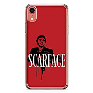 Loud Universe Tony Montana Fire iPhone XR Case Scarface Red Color iPhone XR Cover with Transparent Edges