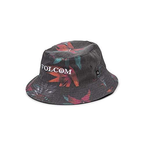 Volcom Men's Verano Stone 3 Panel Bucket Hat, Black, Small/Medium (Streetwear Bucket Hats)