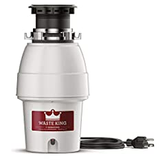 Waste King l-2600: 1/2 horsepower garbage disposal with pre-installed power cord and Sound insulation. Energy efficient permanent magnet motor and stainless steel swivel impellers help reduce jamming. Fast and easy to install with a removable...