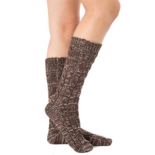 Women Knee High Knitted Wool Crochet Thread Vintage