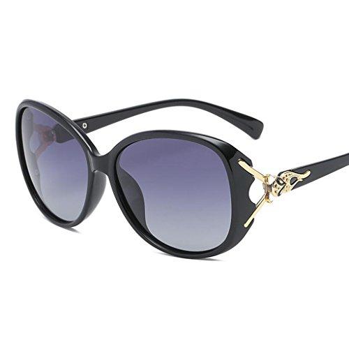 De Gafas Purple Cara Sol Cara Negro Gafas Redonda UV QZ HOME Protección Larga Color E57qaI