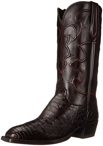 Lucchese Bootmaker Men's Charles Western Boot, Black Cherry, 10 D US (Metatarsal Western Boots)