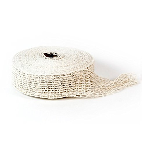 Zip Net 18N, 18 1.5 Stitch Cotton Smoked Meat Poultry Ham Netting Roll, Butcher's Wrapping Net, Meat Tying Roll, 150-Feet Rall