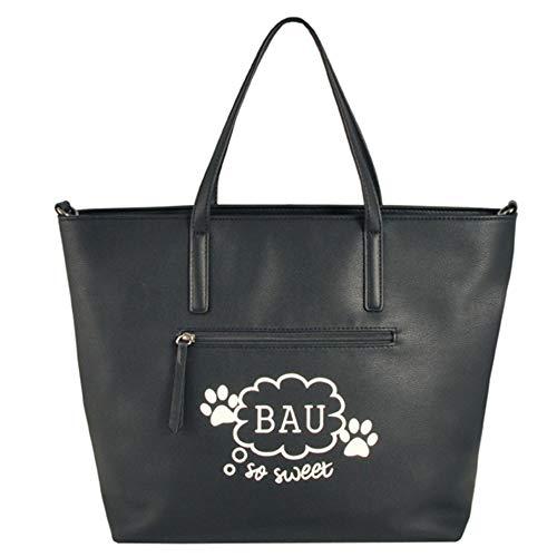 Noir Sac Blu 52x45x14cm l'épaule à femme porter pour à Noir Tosca nAf817R1
