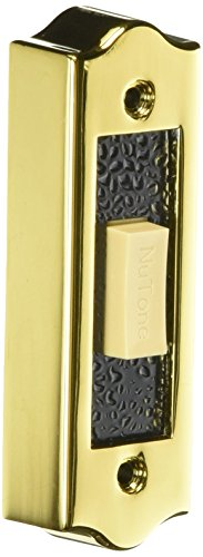 NuTone PB19LGL Wired Lighted Door Chime Push Button, Gold