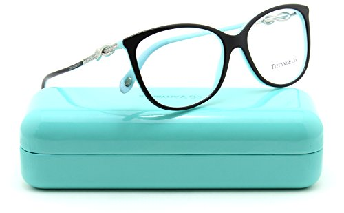 d86f114bce3 Tiffany   Co. TF 2143-B Women Oval Eyeglasses RX - able Frame (Black Blue  8055