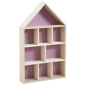 Red Toolbox - Mensola a forma di casetta in legno, 9 scomparti ...