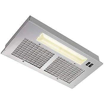 Broan Aluminum Power Pack Range Hood Insert, Exhaust Fan and Light Combo for Over Kitchen Stove, Silver, 8.0 Sones, 250 CFM