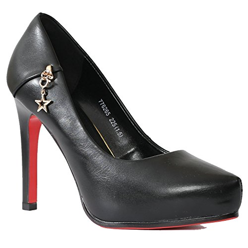 De KHSKX De Mujeres Nueva Para Zapatos SieteBlack Alto Otoño Los Y ZapatosTreinta Solo Shallow Tacon Impermeable Collar Las Zapatos White Jóvenes Cuatro Estaciones Punta Moda Escritorio E6U6wrIq8n
