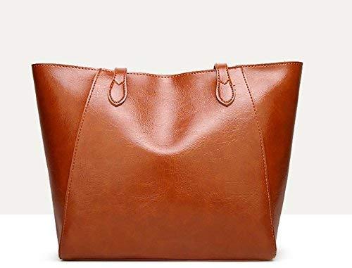 Simple Generoso Capacidad Marrón Bandolera color Gran Tamaño Bolso De Y Marrón Rojo O4FUqYIxY
