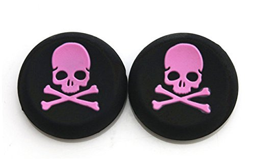 Vivi Audio® Thumb Stick Grips Cap Cover Joystick Thumbsticks Caps For PS4 XBOX ONE XBOX 360 PS3 PS2 Pink Skull