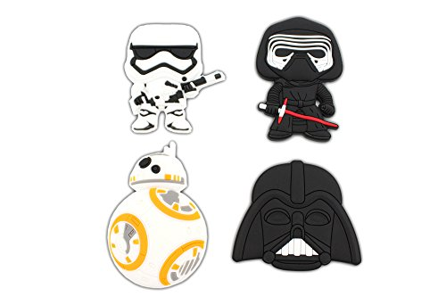 (Finex - Set of 4 LARGE 3 inches - Star Wars Refrigerator Magnets Fridge Magnet Set for Locker )