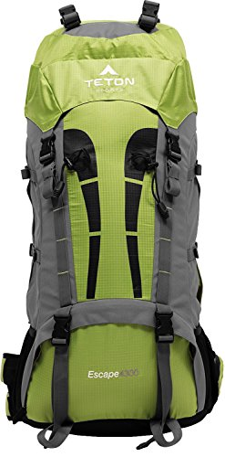 TETON Sports Escape 4300 Ultralight Internal Frame Backpack; Backpacking Gear; Hiking Backpack for Camping, Hunting, Mountaineering, and Outdoor Sports; Free Rain Cover Included