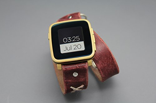 pebble-time-steel-smart-watch-double-wrap-leather-and-metal-handmade-watch-band