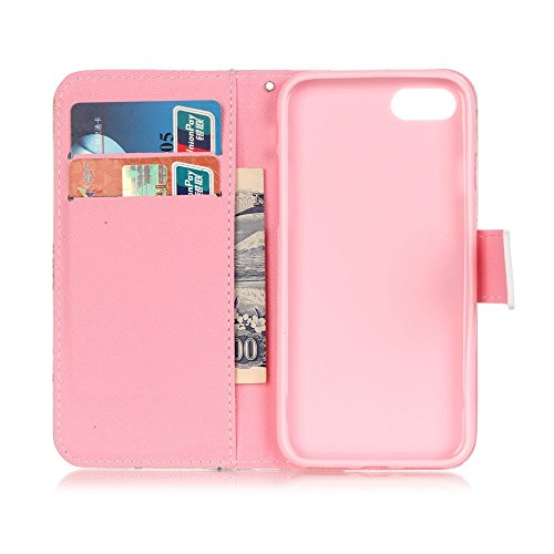 Apple iPhone 7 Sac étui Cover Case de protection Locked decui Cœur Multicolore Multicolore Housse en simili cuir