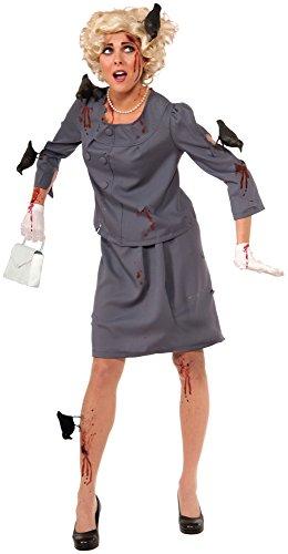 Alfred Hitchcock Halloween (Forum Novelties Women's Bird Attack Costume, Gray-Blue,)
