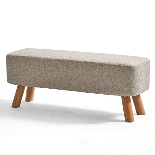 Price comparison product image ZAYJD XRXY Creative Cloth Footstool / Changing His Shoes Stool / Bench Solid Wood Sofa Stool (6 Sizes Optional) (Color : A,  Size : 8735cm)