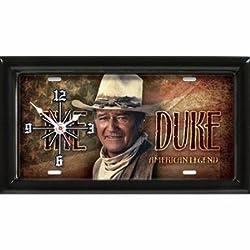 John Wayne License Plate Clock