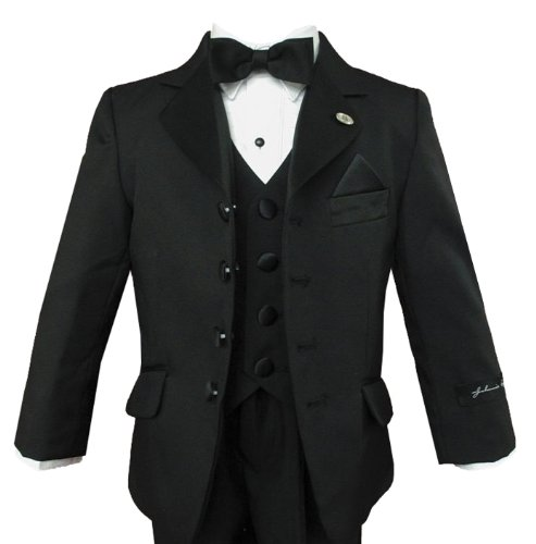 Johnnie Lene Black Tuxedo High Quality Set for Boys From Baby to Teen
