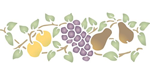 fruit-border-stencil-size-125w-x-45h-reusable-wall-stencils-for-painting-best-quality-fruit-kitchen-