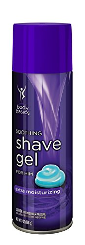 Body Basics Soothing Shave Gel Extra Moisturizing for Him, 7 Fluid Ounce (Pack of 6)