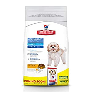 Hill's Science Diet Dry Dog Food, Adult 7+ for Senior Dogs, Small Bites, Chicken Meal, Barley & Brown Rice Recipe 16