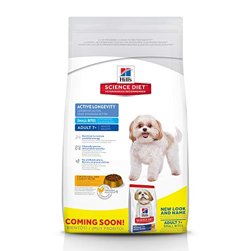 Hill's Science Diet Adult 7+ Small Bites Chicken Meal, Barley & Brown Rice Recipe Dry Dog Food, 33 lb bag